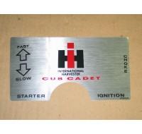 DASH DECAL CUB CADET IH 2750805 R3 NOS