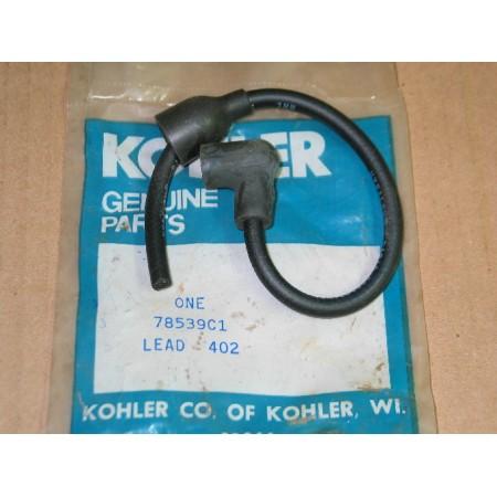 SPARK PLUG LEAD KOHLER IH 78539 C1 KH 52-755-49 NOS