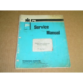 SERVICE MANUAL INTERNATIONAL ENGINE & ELECTRICAL SYSTEM KOHLER GSS 1465-1 AUGUST 1979