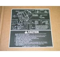CAUTION GRAPHIC DECAL CUB CADET 779-3336 192-292-392 NOS