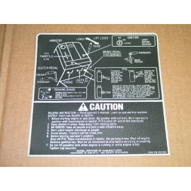 CAUTION GRAPHIC DECAL CUB CADET 779-3336 192-292-392 NOS
