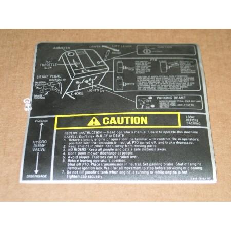 CAUTION GRAPHIC DECAL CUB CADET 779-3393 230 270 NOS