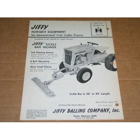"44"" JIFFY SICKLE BAR MOWER USED"