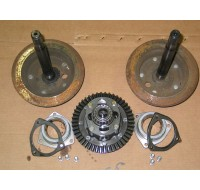 FINE SPLINE AXLES and RING with CASE GEAR ASSEMBLY SHIMS 717-3217 717-3112 717-3113 741-3038 759-3430 618-3039 703-1789 USED