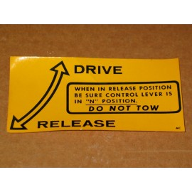 DO NOT TOW DECAL CUB CADET IH 2754129 R1 NOS