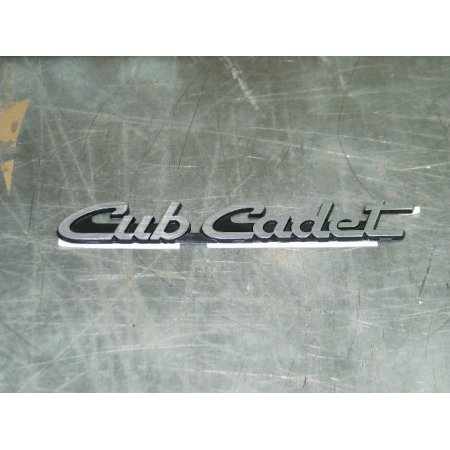 CUB CADET EMBLEM SILVER CUB CADET 731-3053 931-3053A NEW